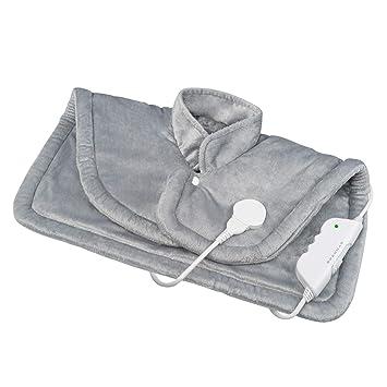 Medisana HP 622 Capa térmica eléctrica, colchoneta térmica para hombro y cuello, poncho térmico con 6 niveles de temperatura, protección contra ...