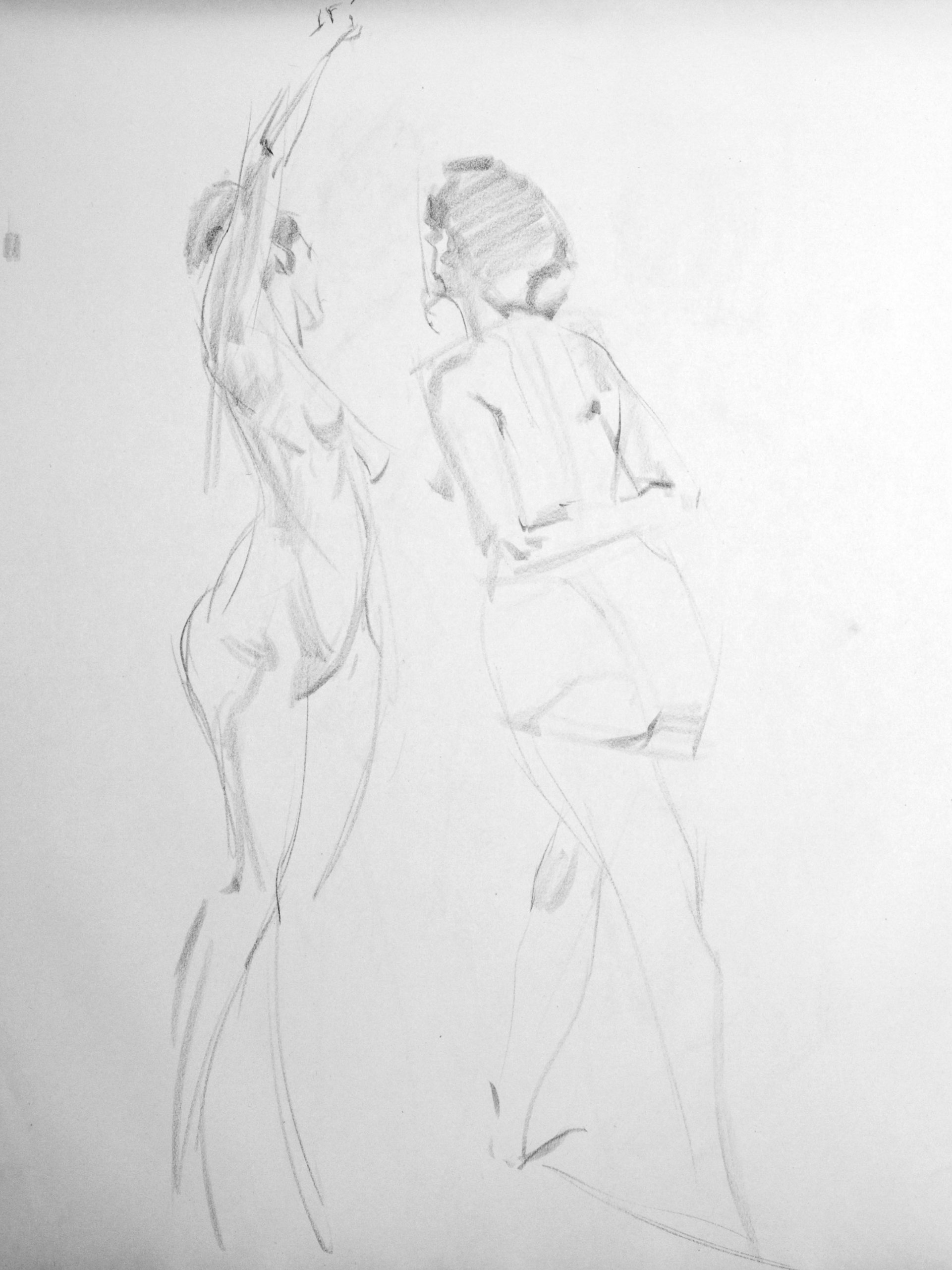 20110629 Charcoal Life Drawing: Female Nude 03