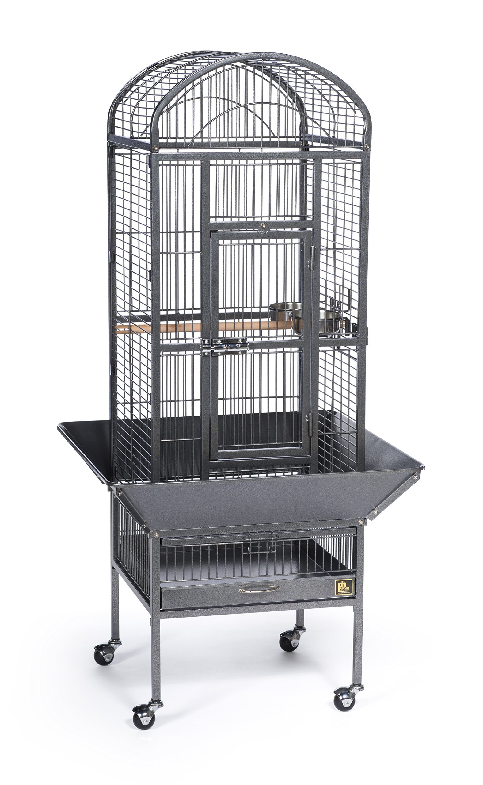 Prevue Pet Products 34511 Dometop Bird Cage, Small, Black Hammertone
