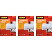 $78 » Scotch Thermal Laminating Pouches, 8.9 x 11.4-Inches, 5 mil Thick, 50-Pack (TP5854-50), 3 Pack of 50
