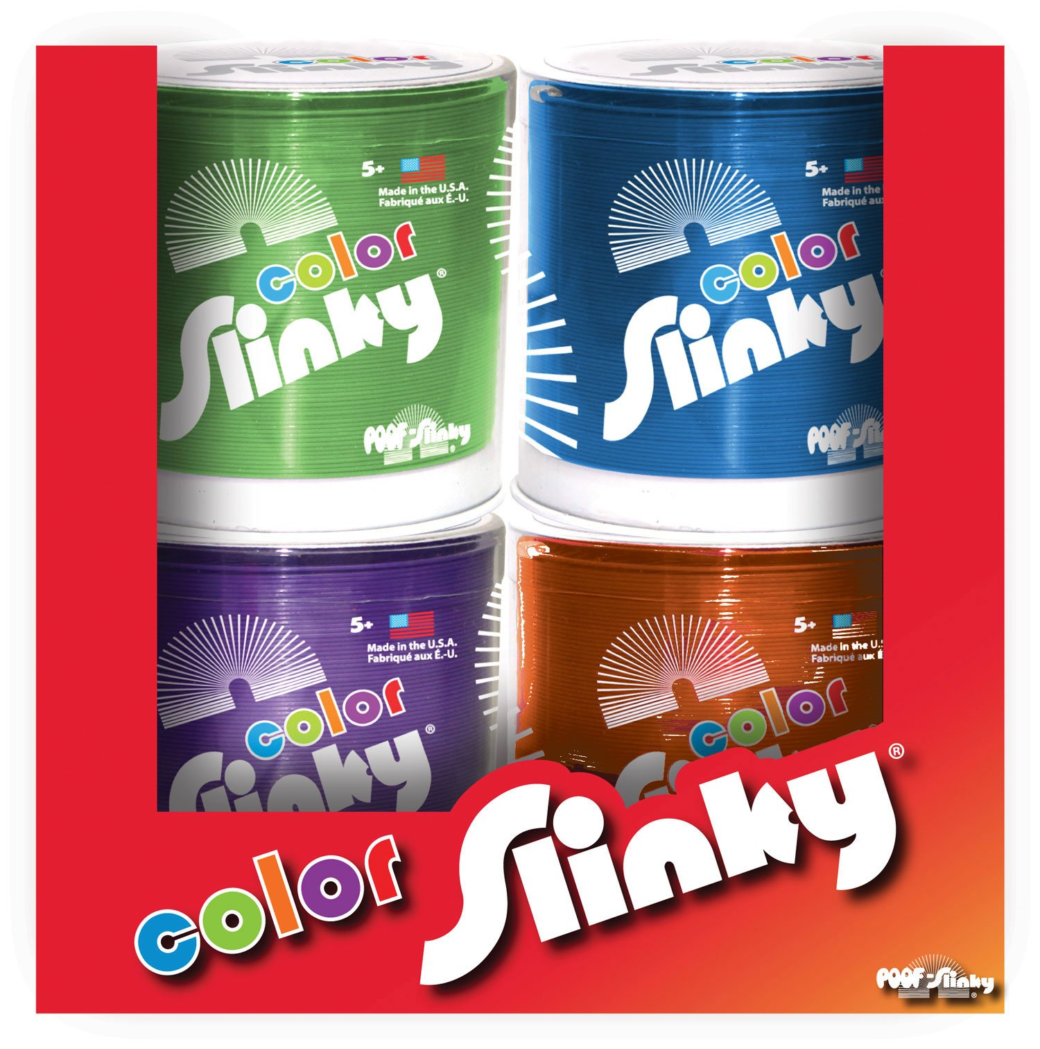 4-Pack Colored Metal Original Slinky