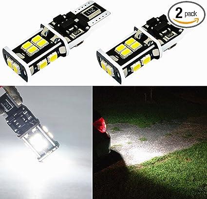 6000K White T15 906 W16W 912 921 LED Back Up Light Bulbs 360-Degrees Xtreme Super Bright LED 921 Bulb High Power 4014 48-SMD LED Bulbs Back-Up Reverse Lights