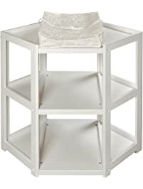 Badger Basket Diaper Corner Changing Table, White