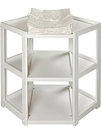 badger basket diaper corner changing table white