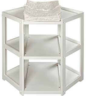 Elegant Badger Basket Diaper Corner Changing Table, White