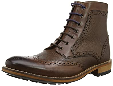 be5b11c8d68b1d Ted Baker Mens Sealls 3 Brogue Ankle Boot  Amazon.co.uk  Shoes   Bags