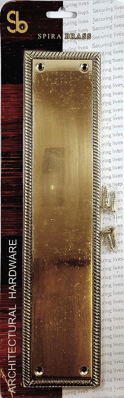 30,5/cm Heavy Duty Laiton poli solide forg/é Laiton Style g/éorgien plaque de pression du doigt NEUF
