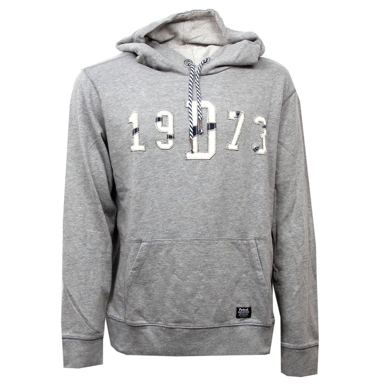 Petrol Industries D1112 Felpa  Herren Grigio Grau Sweatshirt Men