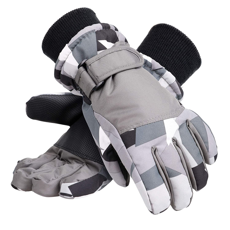 Galexia Zero Kids Winter Gloves Waterproof Thinsulate Lining Snow Ski Gloves