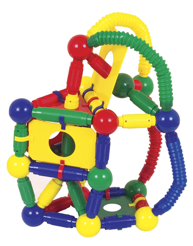 amazoncom guidecraft magnetos master builder  piece toys  games -