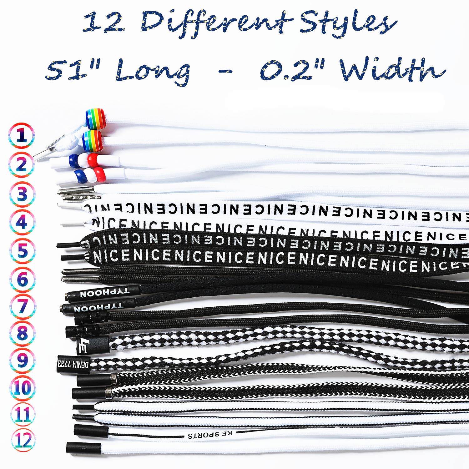 15 Pack DaBuLiu 12 Pieces Replacement Drawstrings Universal Drawstrings and 3 Pieces Drawstring Threader Use in Hoodies,Sweatpants,Shoe Laces,Tote Bags /& More