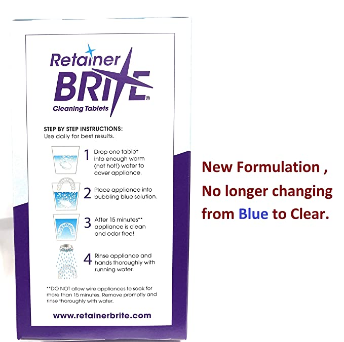Amazon Retainer Brite 96 Tablets 3 Months Supply Beauty