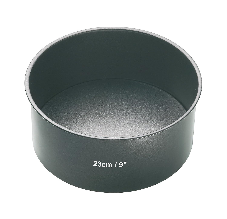 Kitchen Craft Master Class Molde con Base Suelta, Acero, Negro, 23 cm: Amazon.es: Hogar