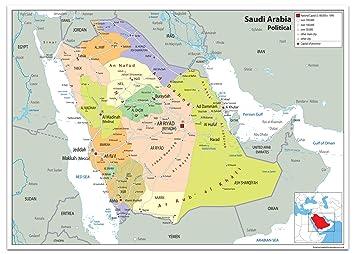Saudi Arabien Politische Karte Papier Laminiert Ga A2 Size 42