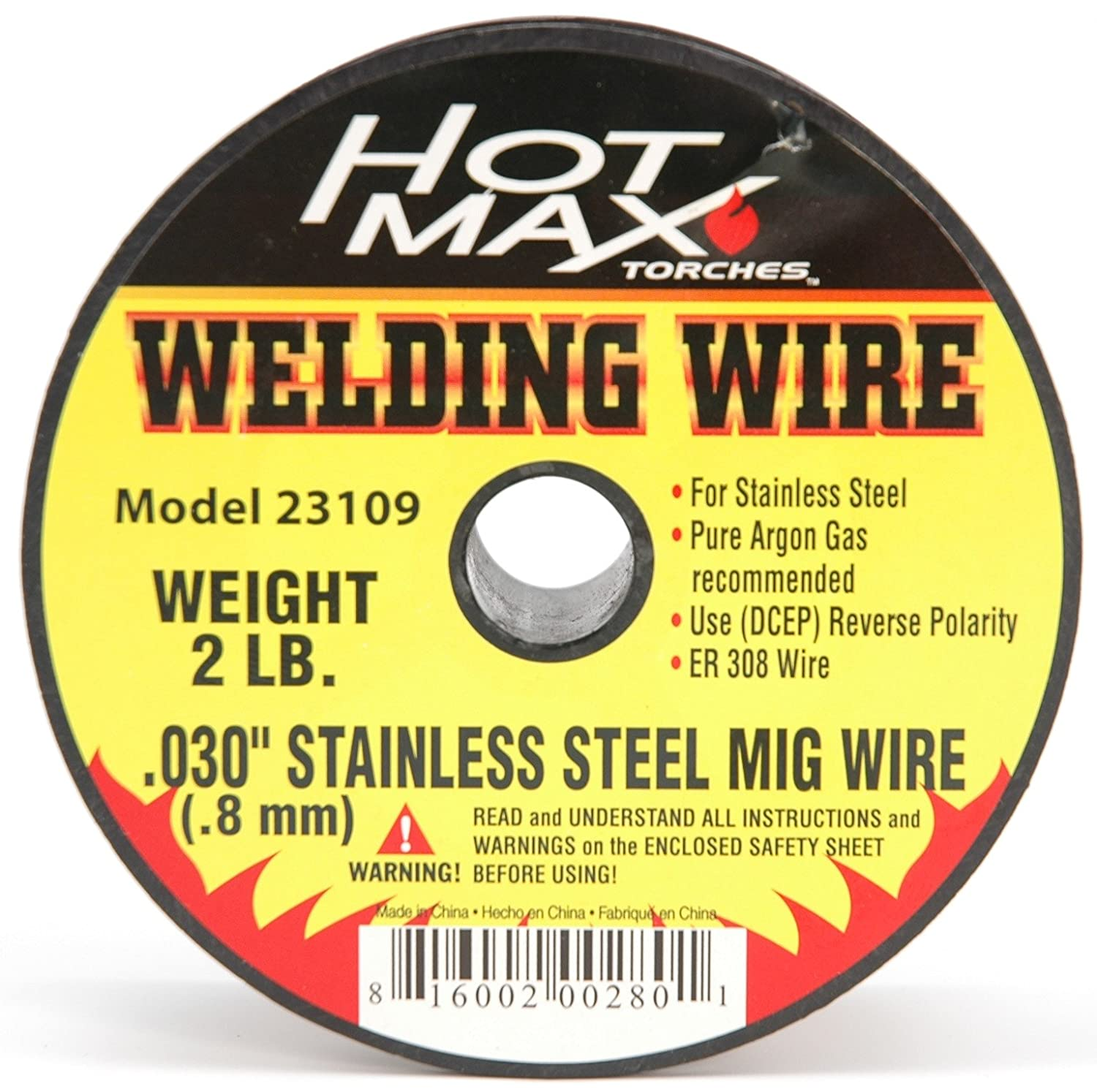 2# Hot Max 23109 .030-Inch Stainless Steel ER 308 MIG Wire