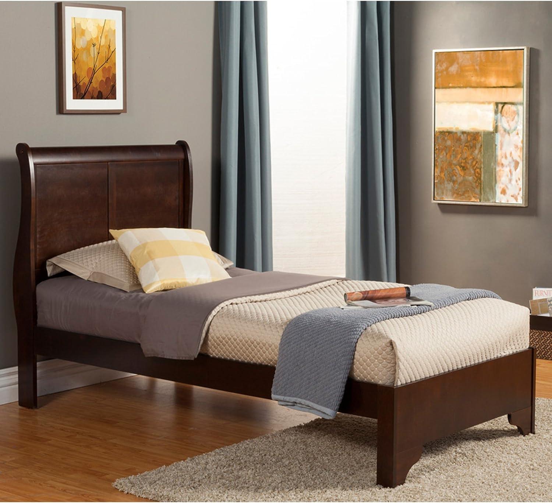 Alpine Furniture West Haven Sleigh Bed, Twin Size