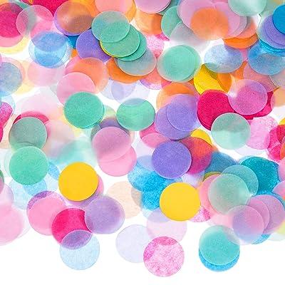 1 Pouce Confetti Tissu Rond Multicolore, 10000 Pièces