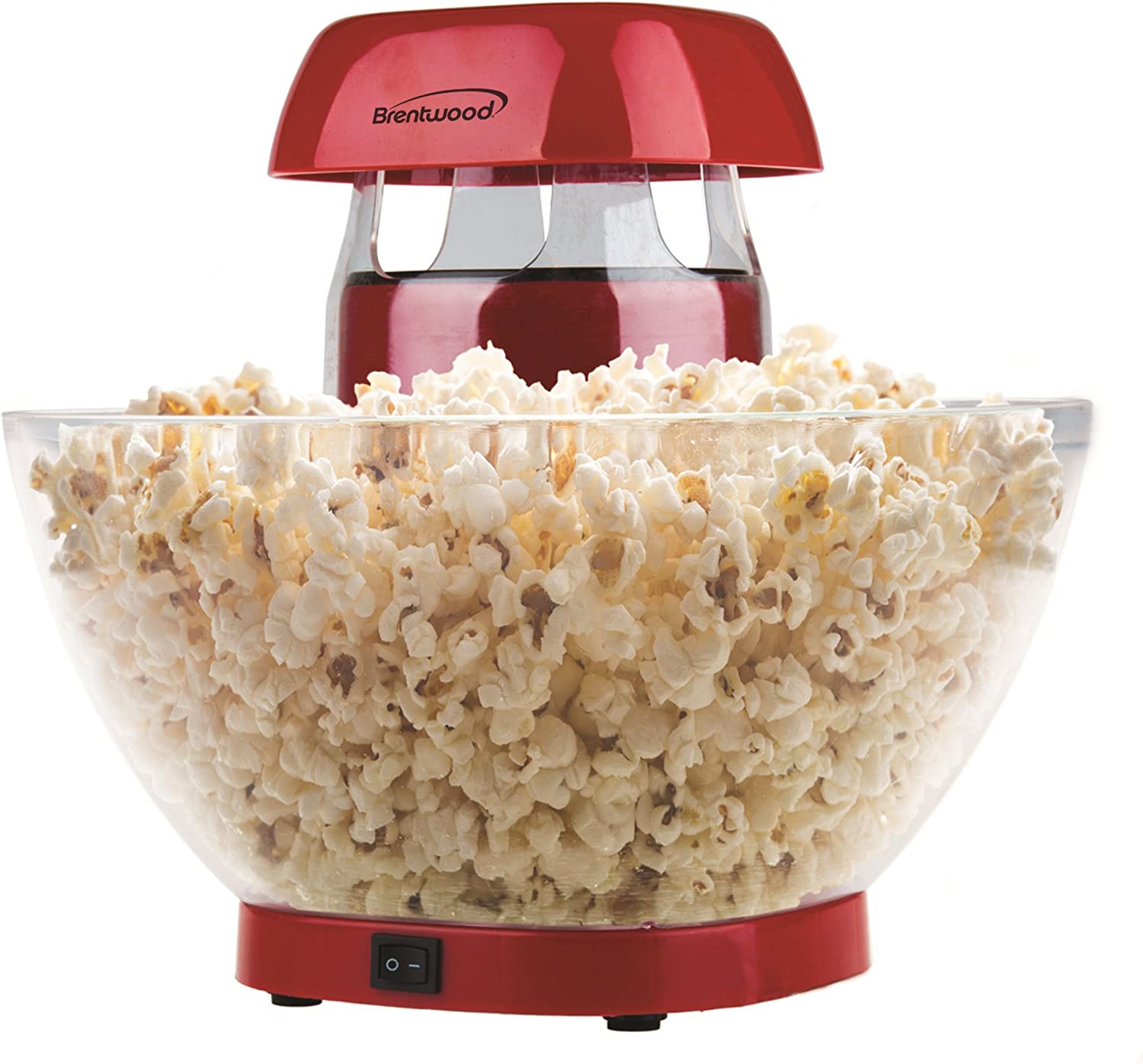 Brentwood PC-490R Jumbo Hot Air Popcorn Maker, 24-Cup, Red