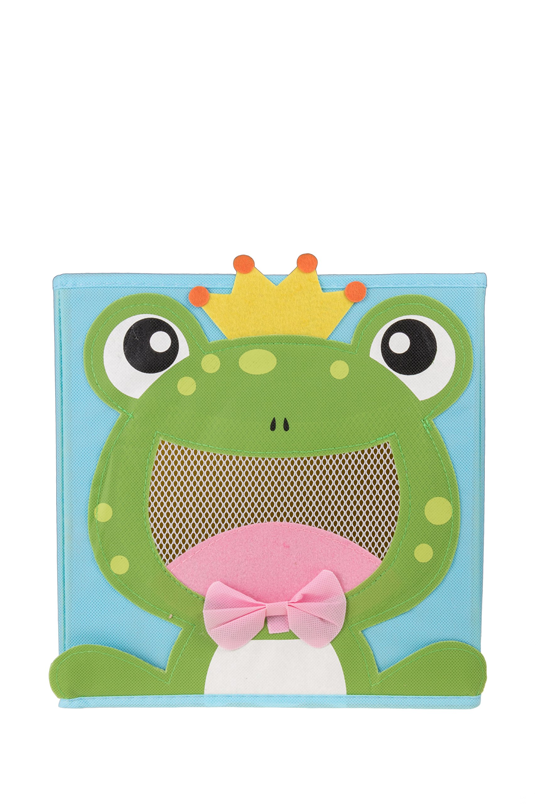 Clever Creations Cute Smiling Frog Collapsible Toy Storage Organizer Toy Box Folding Storage Cube Kids Bedroom | Perfect Size Storage Cube Books, Kids Toys, Baby Toys, Baby Clothes