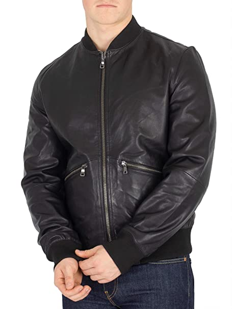 Tommy Hilfiger Mens Reversible Lightweight Leather Jacket ...