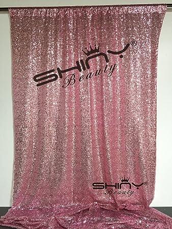 Shinybeauty Pink Gold Schimmer Pailletten Hintergrund Vorhang Schimmer Pailletten Stoff