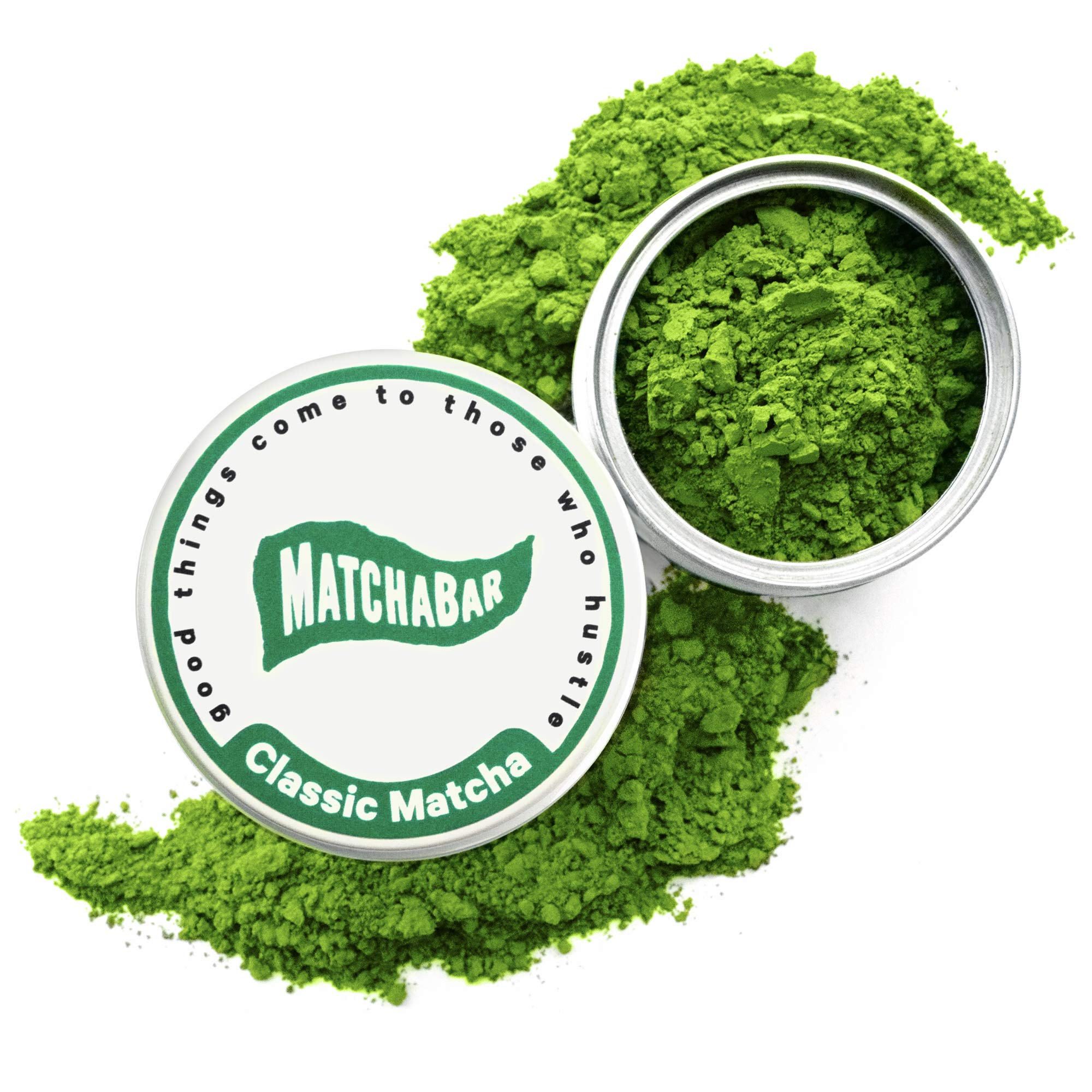 MatchaBar Matcha Green Tea Powder   Ceremonial Grade Japanese Green Tea with Caffeine & Antioxidants   For Sipping or Latte   80g Tin by MatchaBar