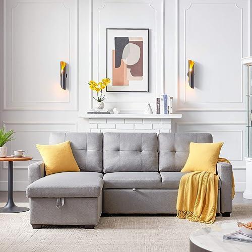 Reviewed: LUMISOL Reversible Sleeper Sectional Corner Sofa Bed