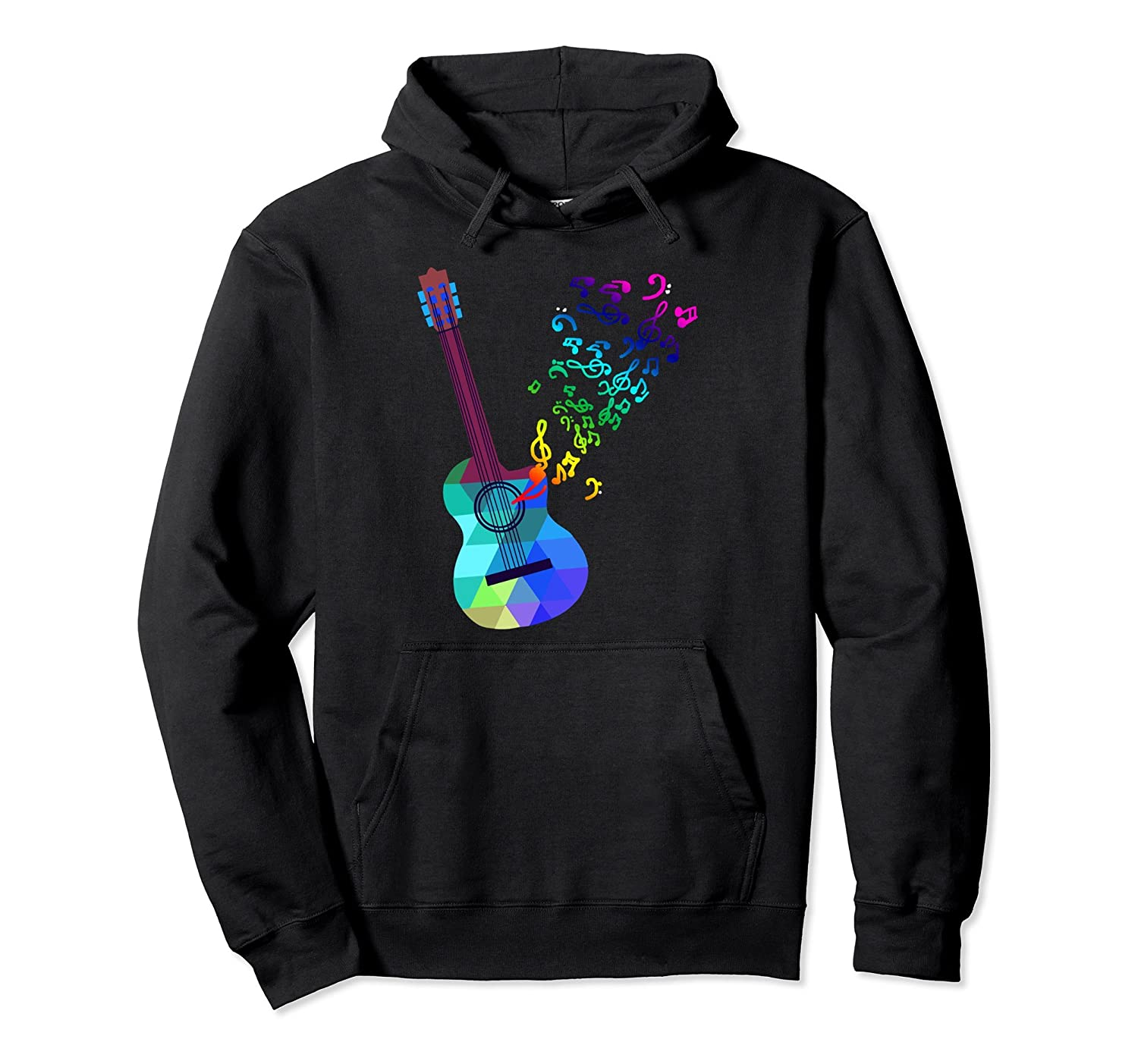 Acoustic Guitar Music Notes Hoodie Guitar Musician Gift Tpt Best