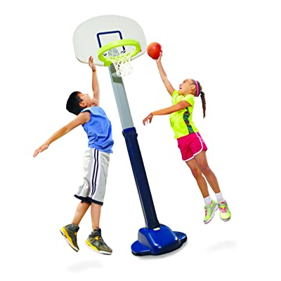 Little Tikes Adjust and Jam Pro Basketball Set, Blue: Toys & Games