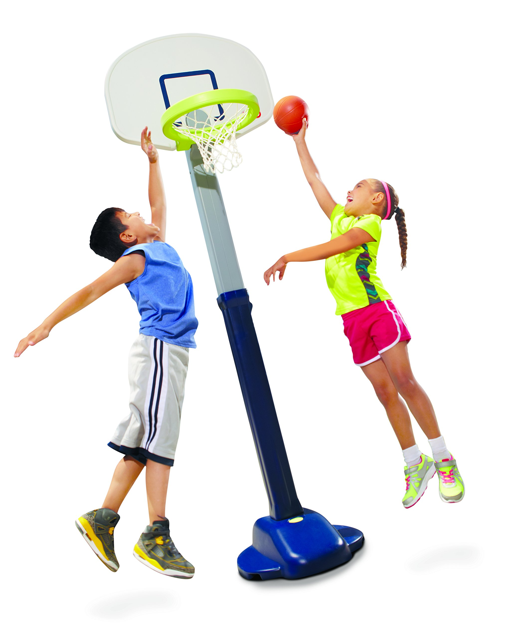 Little Tikes Adjust and Jam Pro Basketball Set, Blue by Little Tikes
