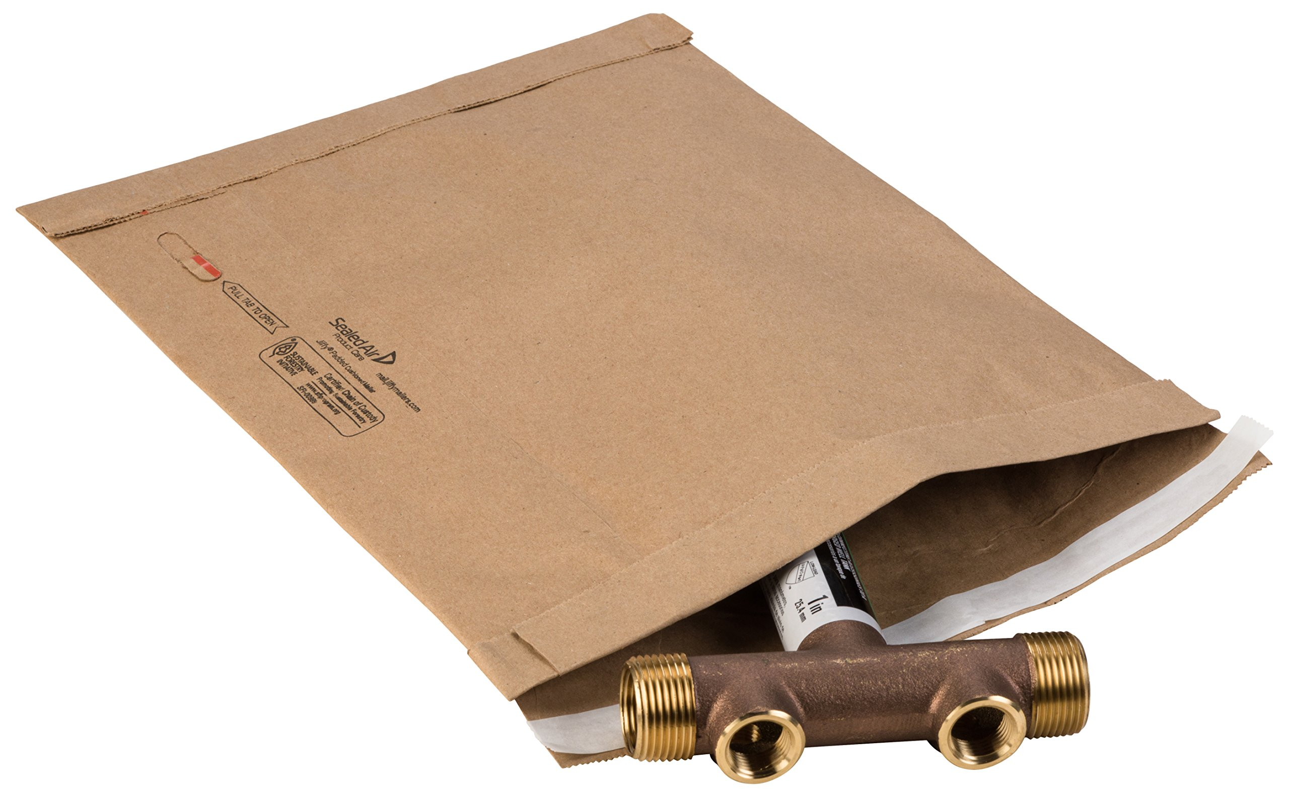 Jiffy Padded Mailer 67068 Self Seal, 2, 8-1/2'' x 12'', Natural Kraft (Pack of 100) by Jiffy Steamer (Image #1)
