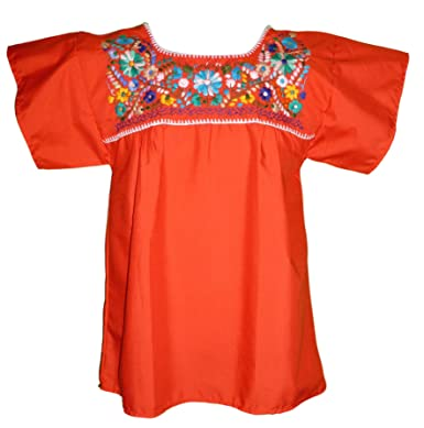 949b402b8b02a9 Women's Puebla Mexican Blouse - Red at Amazon Women's Clothing store: