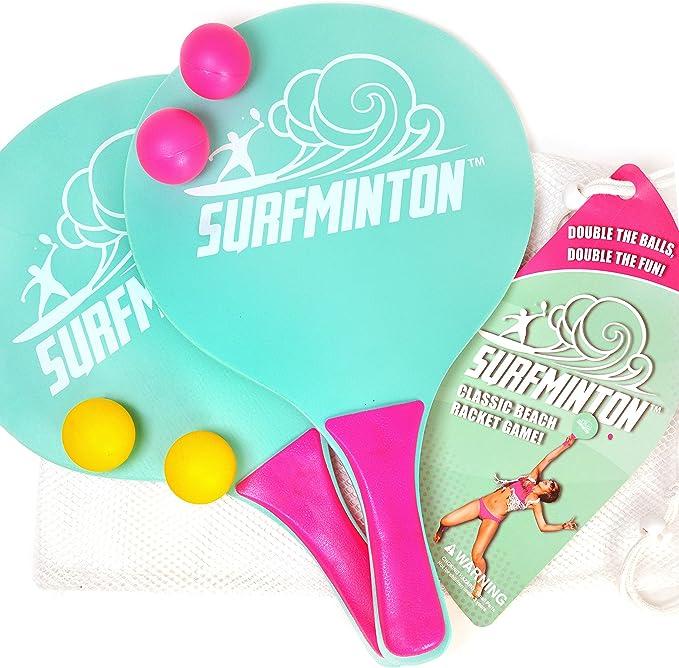 Amazon.com: VIAHART Surfminton Classic Beach Tennis Wooden ...