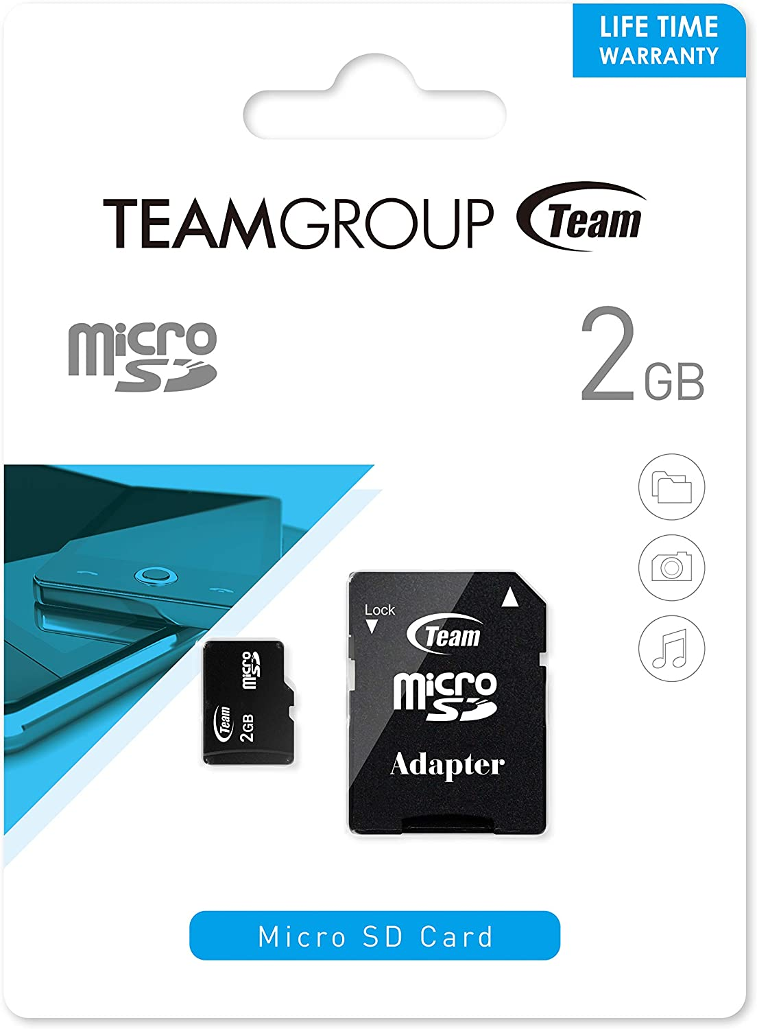 Team Group Micro SD 2 GB con Adaptador SD Tarjeta de Memoria 4 GB ...