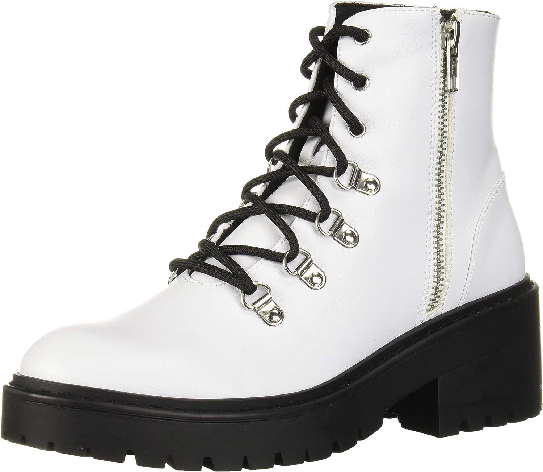 Skechers Women's Teen Spirit-7 Eye Lug Sole Boot and Memory Foam Cushioning Fashion
