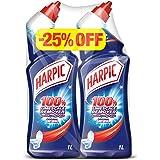 Harpic Toilet Cleaner Liquid Limescale Remover Original 1L Twin Pack