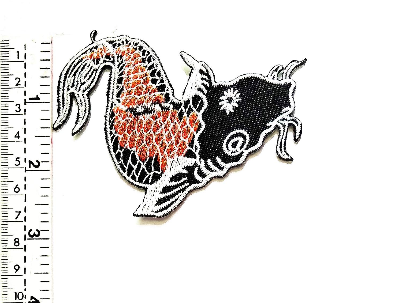 Parche de la suerte con diseño de pez koi japonés, para niños ...