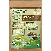 SVATV Cumin Seed Powder (Cuminum Cyminum) 1/2 LB, 08 oz, 227g USDA Certified Organic- Zip Lock Pouch, Food Grade spices