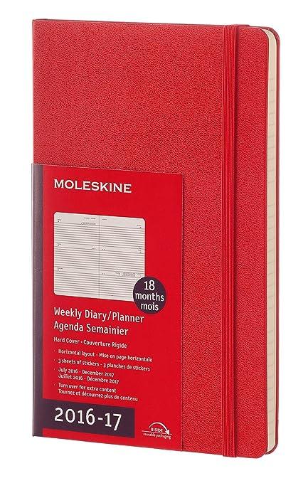 Moleskine DHF218WH3Y17 - Agenda semanal 18 meses, L 13 x 21