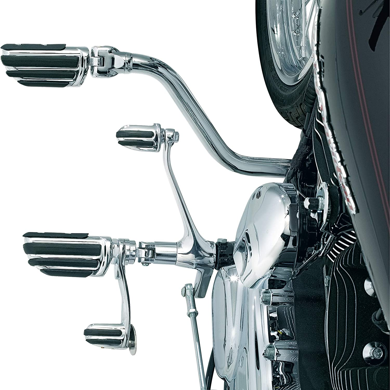 Kuryakyn 7841 Motorcycle Foot Controls Chrome Extended Length//Long Cruise Arm Mark IV for 2000-17 Harley-Davidson FL Softail Motorcycles