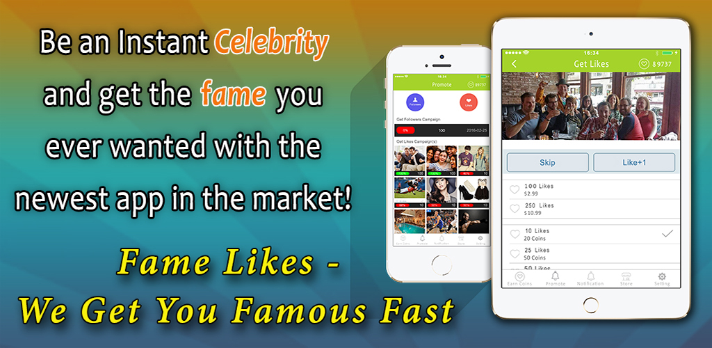 Amazon.com: Fame Likes - We Get You Famous Fast, Followers and Likes for Instagram: Appstore for Android