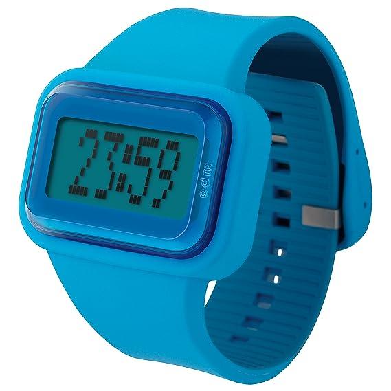 c6a8ebf46f7b ODM DD125-4 Rainbow - Reloj digital unisex (correa azul de silicona ...