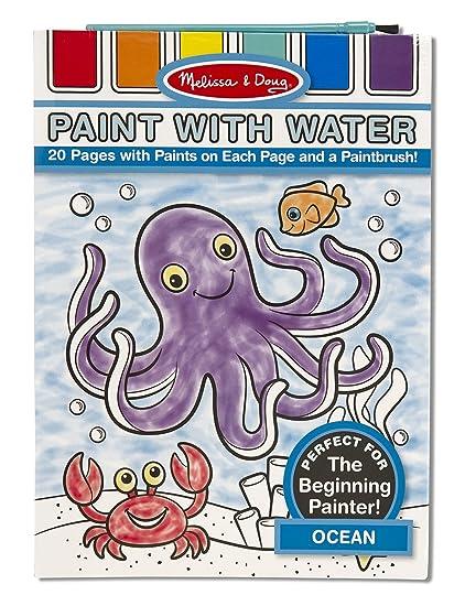Amazon.com: Melissa & Doug Paint With Water Activity Book - Ocean ...