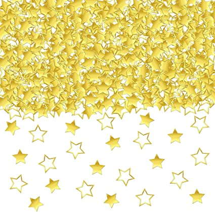 10mm Sequins Large Stars  Gold Silver or Multi