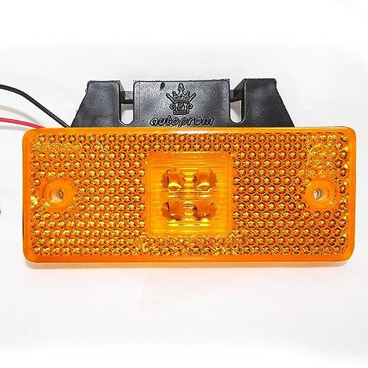 4 SMD LED 24V Positionsleuchte Umri/ßleuchte Begrenzungsleuchte LKW Gelb A1 10 Stk