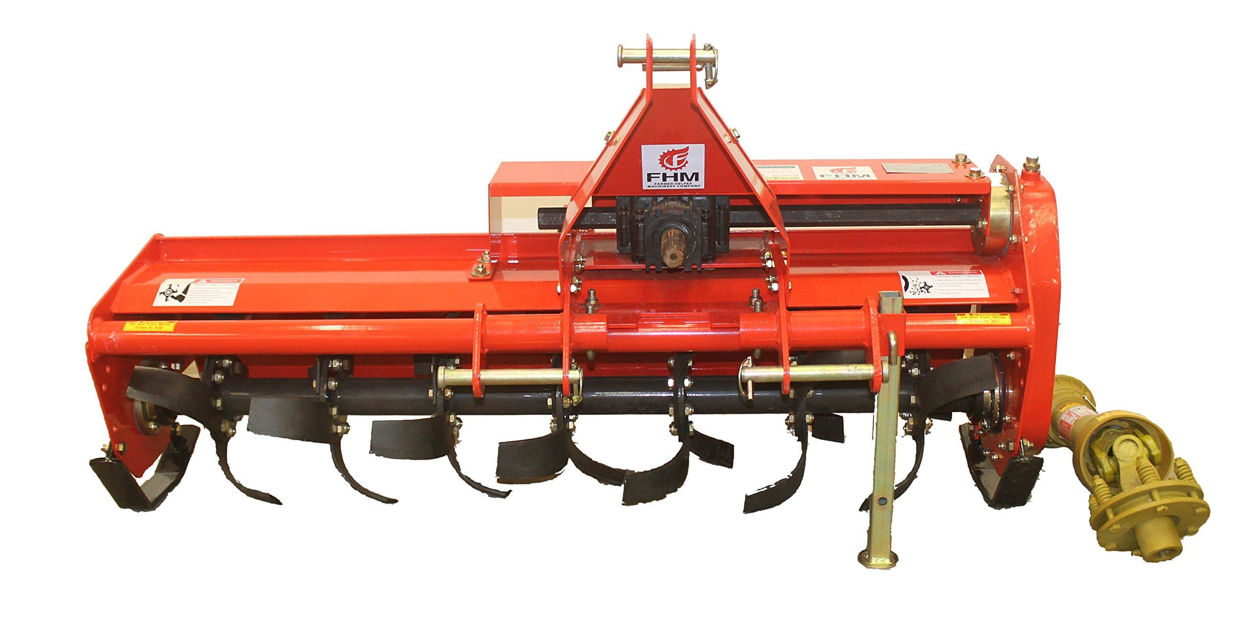 Farmer Helper 53''Adjustable Offset 3 pt Rotart Tiller FH-TL135 Cat.I 3pt 20+hp~Slip Clutch Driveline