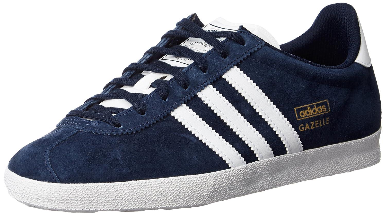 Adidas Gazelle OG, Zapatillas Hombre, 42 2/3 EU Multicolor (Azul Oscuro/Blanco/Dorado)