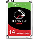 Seagate 14 TB IronWolf 3.5 Inch Internal Hard Drive for 1-8 Bay NAS Systems (7200 RPM, 256 MB Cache, up to 210 MB/s, 180 TB/Year Workload Rate)