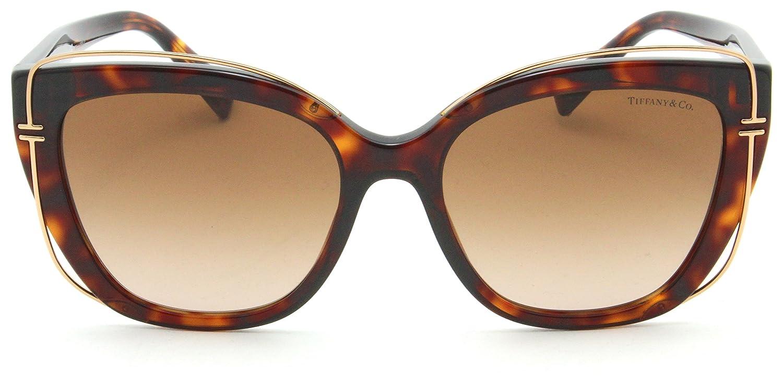 ed4301d5154a0 Amazon.com  Tiffany   Co. TF 4148 Women Cat-Eye Sunglasses Brown Gradient  80023B  Clothing