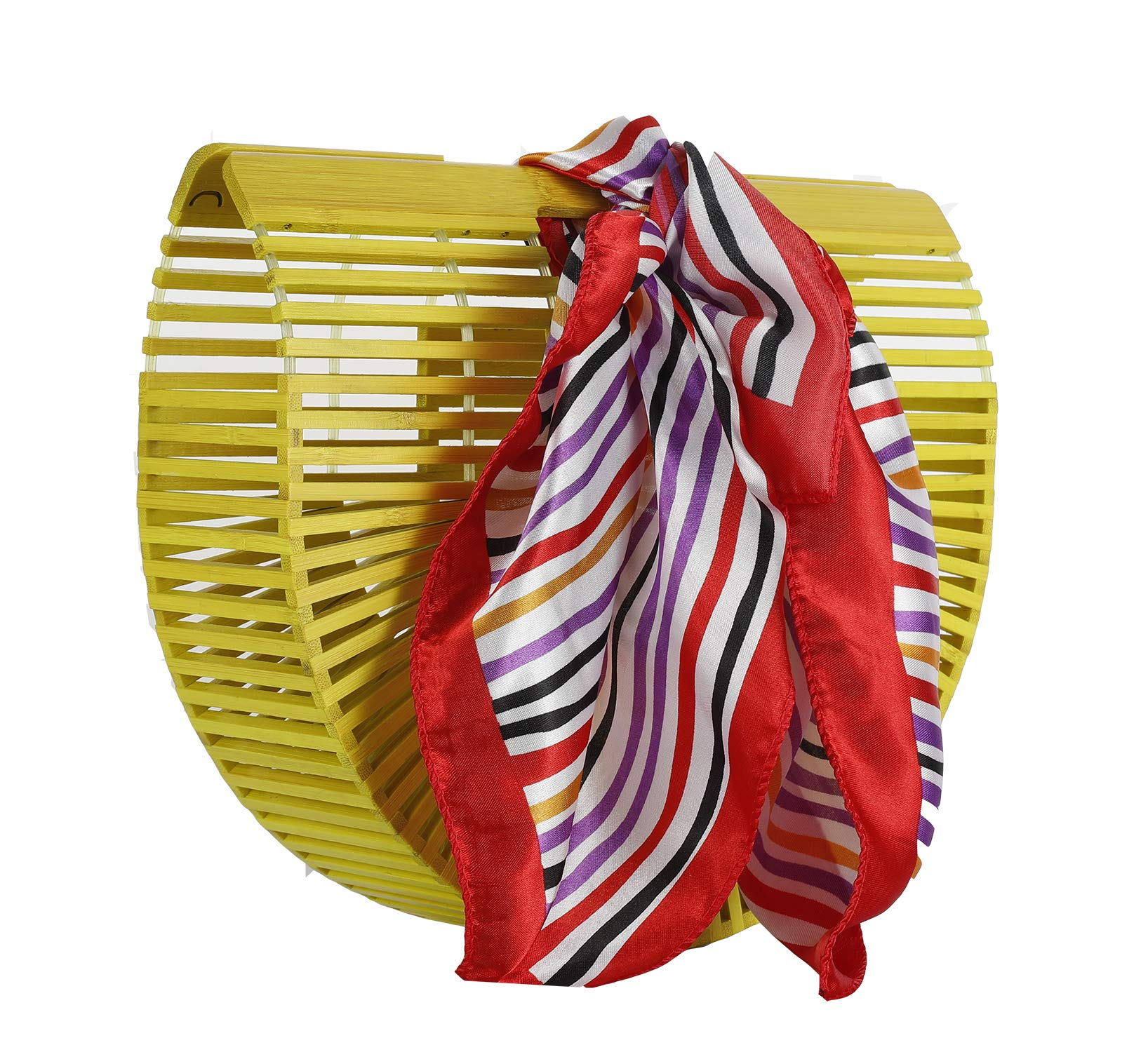 Bamboo Clutch Ark Bag Beach Handbag (bamboo yellow)